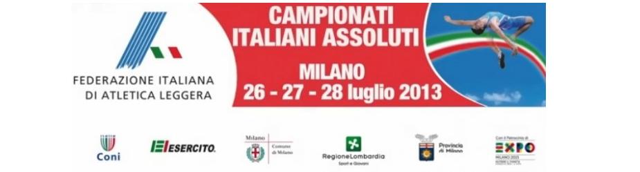 FINE SETTIMANA CON I CAMPIONATI ITALIANI ASSOLUTI: