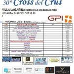 Domenica 4 febbraio 30esima edizione del CROSS del CRUS